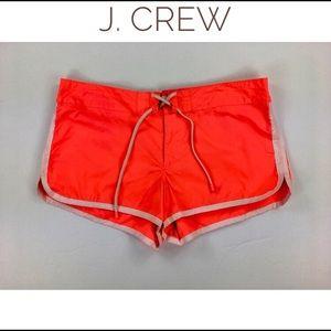 J Crew Women's 10 Neon Orange Board Shorts